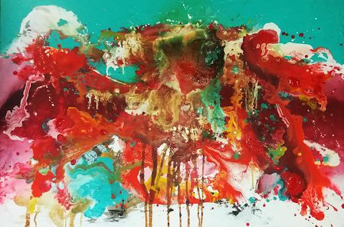 Silke Brandenstein, Weil jeder Tag zählt!, Symbol, Glauben, Abstrakter Expressionismus
