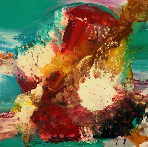 Silke Brandenstein, Spirit of Ibiza, Symbol, Fantasie, Abstrakter Expressionismus