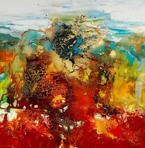 Silke Brandenstein, Seelengold, Symbol, Gefühle: Liebe, Abstrakter Expressionismus
