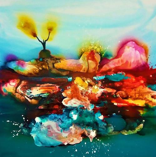 Silke Brandenstein, GERONIMO!, Symbol, Glauben, Abstrakter Expressionismus