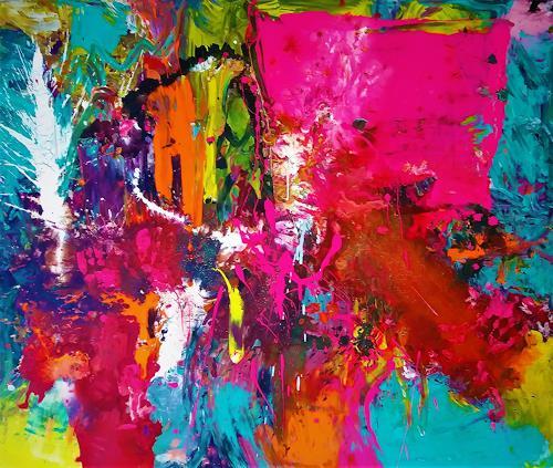 Silke Brandenstein, Brainstorming, Bewegung, Symbol, Action Painting