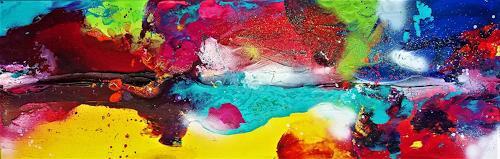 Silke Brandenstein, Der Sinn des Lebens ist LEBEN Teil I, Fantasie, Bewegung, Abstrakte Kunst