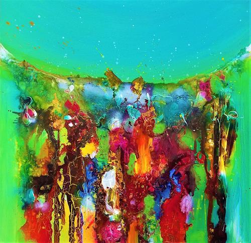 Silke Brandenstein, Don´t stop me now!, Glauben, Fantasie, Abstrakter Expressionismus