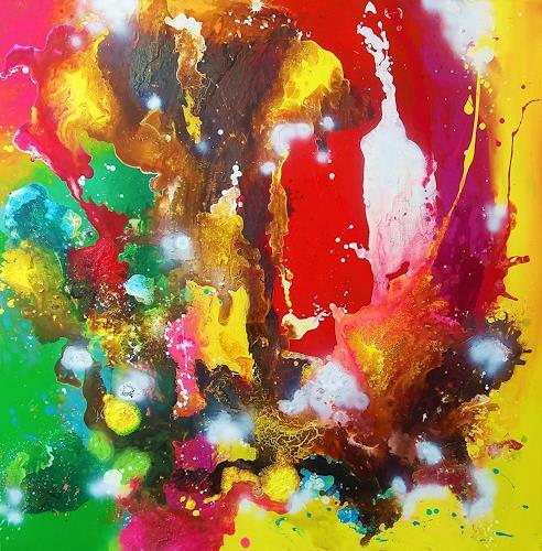 Silke Brandenstein, Mix it!, Fantasie, Action Painting, Abstrakter Expressionismus