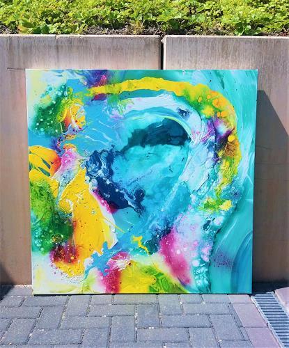 Silke Brandenstein, WAVE OF JOY, Fantasie, Natur: Wasser, Abstrakter Expressionismus