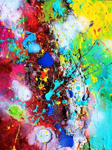 Silke Brandenstein, Trotz allem und gerade deswegen..., Fantasie, Bewegung, Action Painting