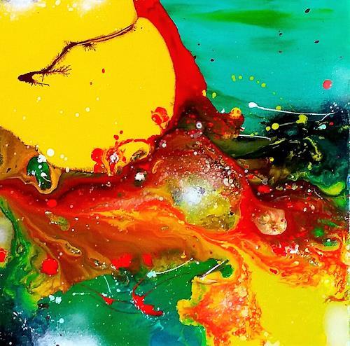 Silke Brandenstein, A birth of a new idea I, Glauben, Bewegung, Abstrakter Expressionismus