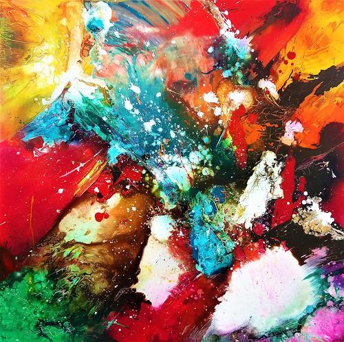 Silke Brandenstein, Wind des Wandels, Fantasie, Natur: Diverse, Abstrakter Expressionismus