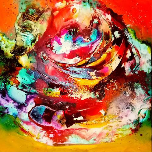 Silke Brandenstein, Round about, Fantasie, Bewegung, Abstrakter Expressionismus