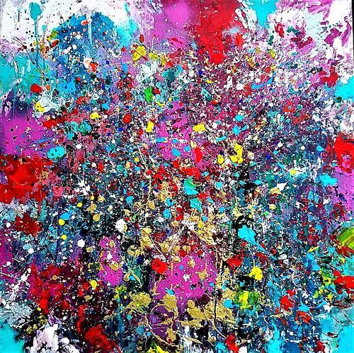 Silke Brandenstein, ZAUBERSCHÖN, Fantasie, Gefühle: Freude, Prozesskunst, Abstrakter Expressionismus