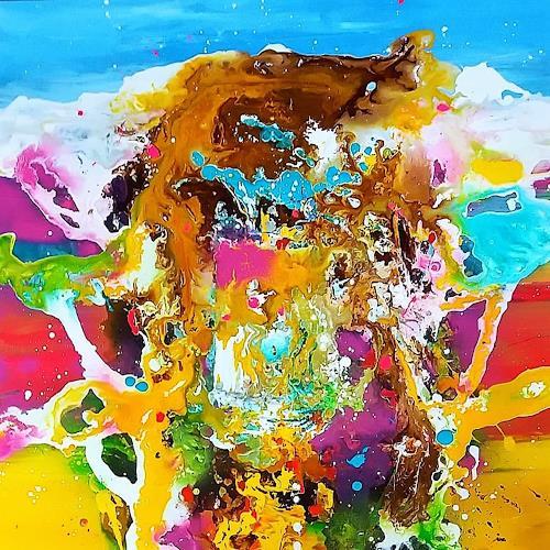 Silke Brandenstein, SONNENTOR, Fantasie, Bewegung, Action Painting, Abstrakter Expressionismus
