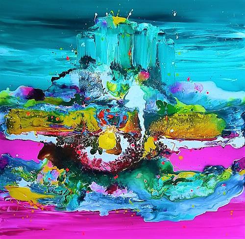 Silke Brandenstein, King of my castle, Fantasie, Glauben, Abstrakte Kunst, Expressionismus