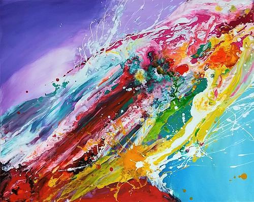 Silke Brandenstein, Liebe wird aus Mut gemacht, Fantasie, Abstraktes, Action Painting
