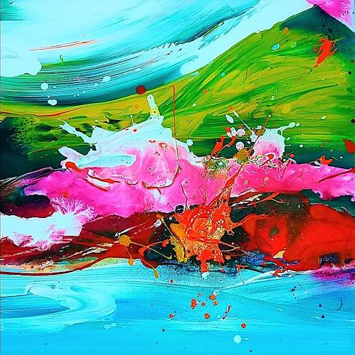 Silke Brandenstein, Seelenzauber 3, Fantasie, Colour Field Painting