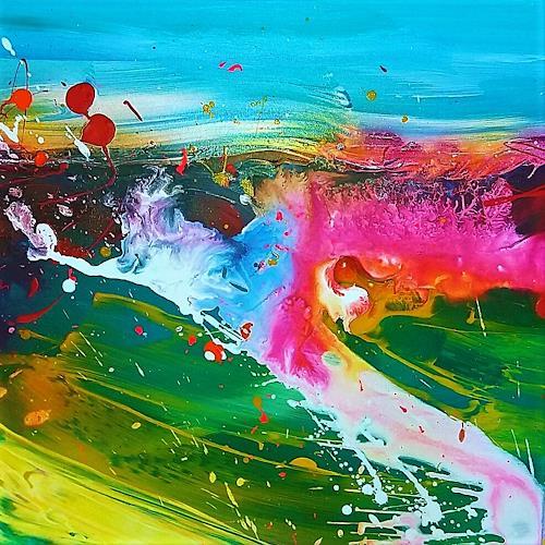 Silke Brandenstein, Seelenzauber 5, Fantasie, Colour Field Painting, Abstrakter Expressionismus