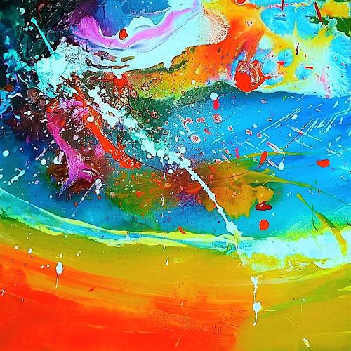 Silke Brandenstein, Seelenzauber 7, Fantasie, Colour Field Painting