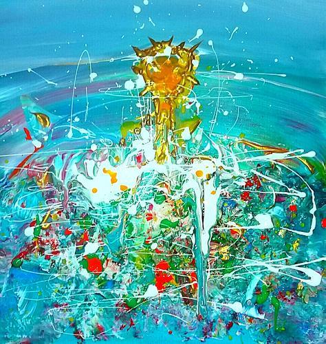 Silke Brandenstein, Cross the horizon, Glauben, Abstrakter Expressionismus
