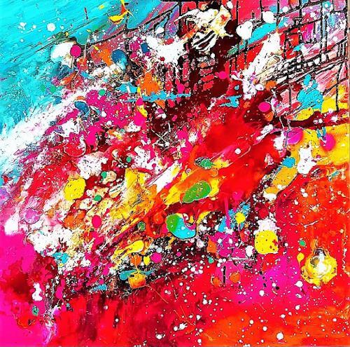 Silke Brandenstein, Open your heart, Gefühle: Liebe, Fantasie, Abstrakter Expressionismus
