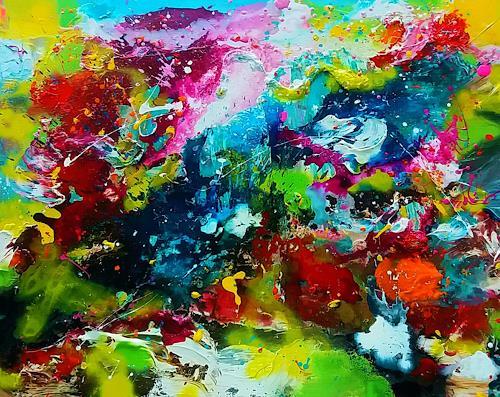 Silke Brandenstein, Live Points, Fantasie, Abstrakter Expressionismus