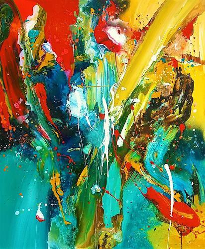 Silke Brandenstein, VIVANT CRESCAT FLOREAT, Fantasie, Abstrakter Expressionismus