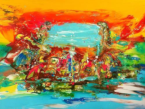 Silke Brandenstein, Neti Neti, Fantasie, Bewegung, Abstrakter Expressionismus