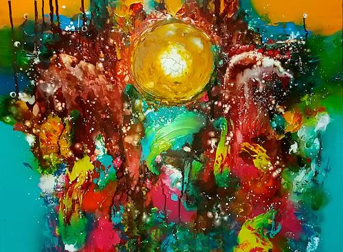 Silke Brandenstein, MondGeburt, Symbol, Fantasie, Abstrakter Expressionismus, Expressionismus