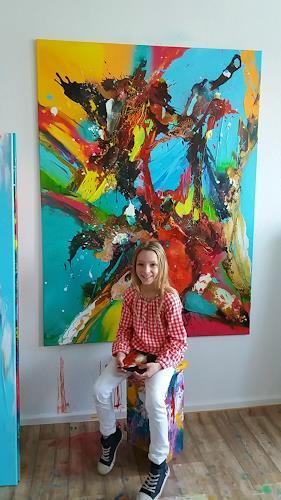 Joy Silke Brandenstein, COURAGE, Glauben, Fantasie, Abstrakter Expressionismus