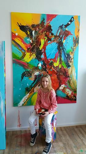 Silke Brandenstein, COURAGE, Glauben, Fantasie, Abstrakter Expressionismus