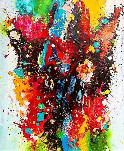 Silke Brandenstein, Herzmolekül, Fantasie, Abstrakter Expressionismus