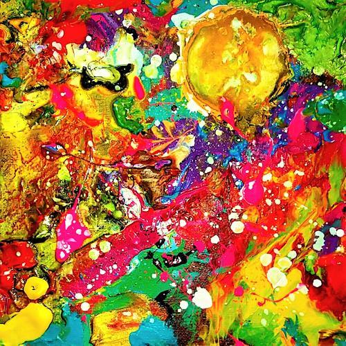 Silke Brandenstein, Sonnenkraft, Gefühle: Freude, Abstrakter Expressionismus