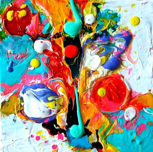 Silke Brandenstein, Lebensgeister Serie, Fantasie, Abstrakte Kunst, Abstrakter Expressionismus