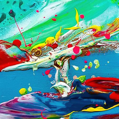 Joy Silke Brandenstein, Aufbruch, Fantasie, Abstrakter Expressionismus