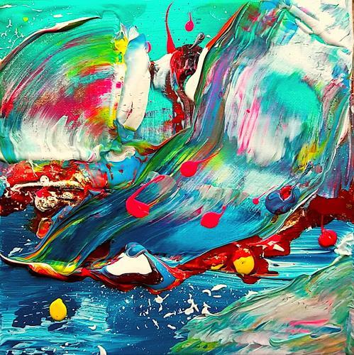 Silke Brandenstein, Lebensgeister Serie, Bewegung, Abstrakter Expressionismus