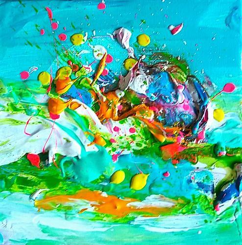 Silke Brandenstein, Lebensgeister Serie, Fantasie, Abstrakter Expressionismus