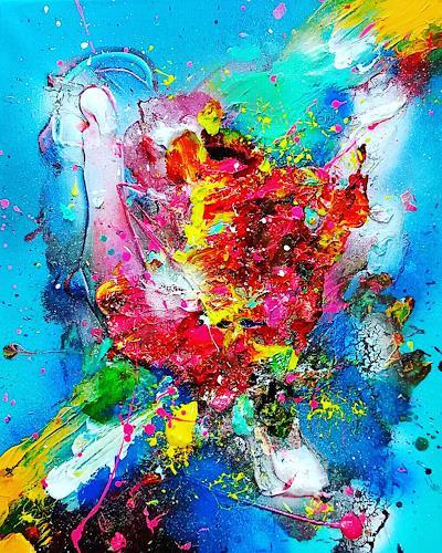 Silke Brandenstein, La vida es..., Fantasie, Glauben, Abstrakter Expressionismus
