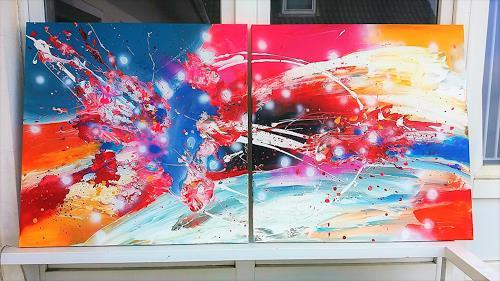 Silke Brandenstein, Open Space, Fantasie, Abstrakter Expressionismus