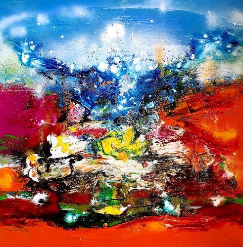 Silke Brandenstein, Wild heart 2019, Fantasie, Bewegung, Abstrakter Expressionismus