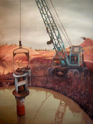 Niklas Hughes, An der Kiesgrube, Diverse Landschaften, Mythologie, Realismus