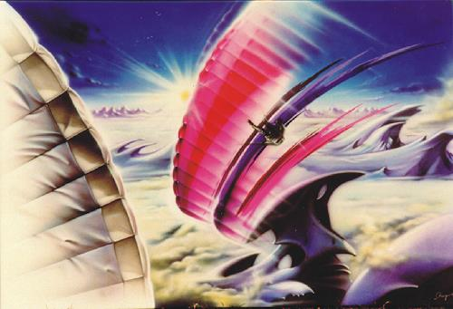 Stingray, Paraglider Space, Bewegung, Fantasie, Fotorealismus