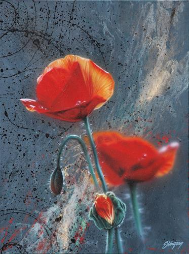 Stingray, Mohn-Light, Pflanzen: Blumen, Fotorealismus, Expressionismus