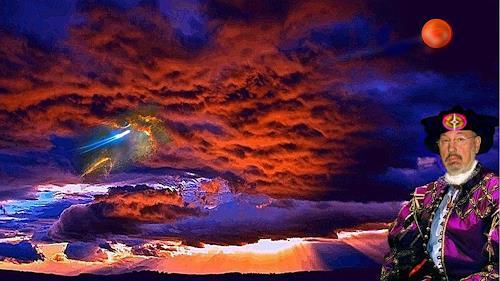 regibarg, surreale Traumwelt, Weltraum, Fantasie, Postsurrealismus, Abstrakter Expressionismus