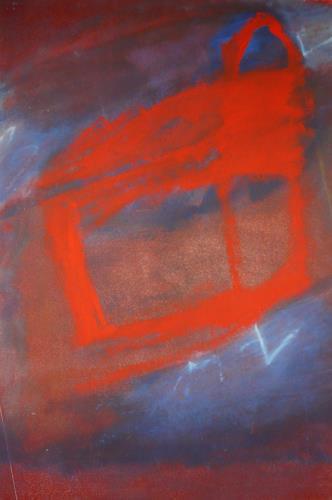 Rolf Blösch, red box, Fantasie, Gefühle: Geborgenheit, Abstrakter Expressionismus