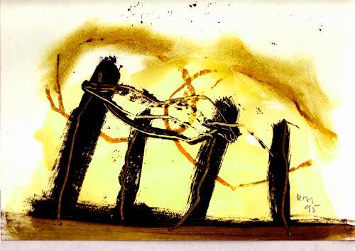 Rolf Blösch, 0.T., Poesie, Abstrakter Expressionismus