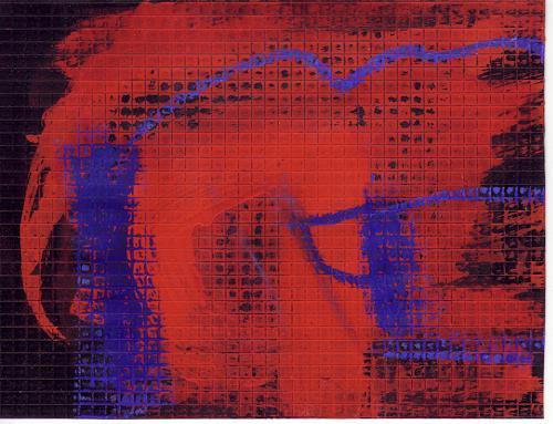 Rolf Blösch, 0.T., Gefühle: Geborgenheit, Abstrakter Expressionismus
