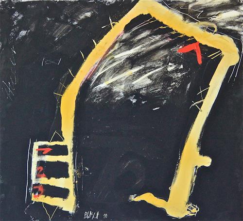 Rolf Blösch, O/T, Abstraktes, Abstrakter Expressionismus