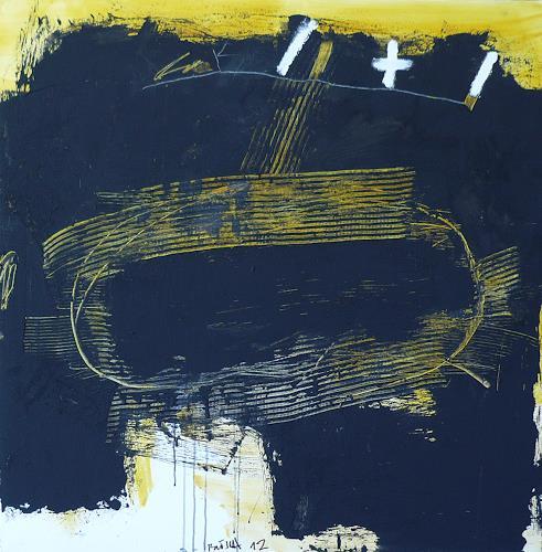 Rolf Blösch, O.T., Abstraktes, Informel, Abstrakter Expressionismus