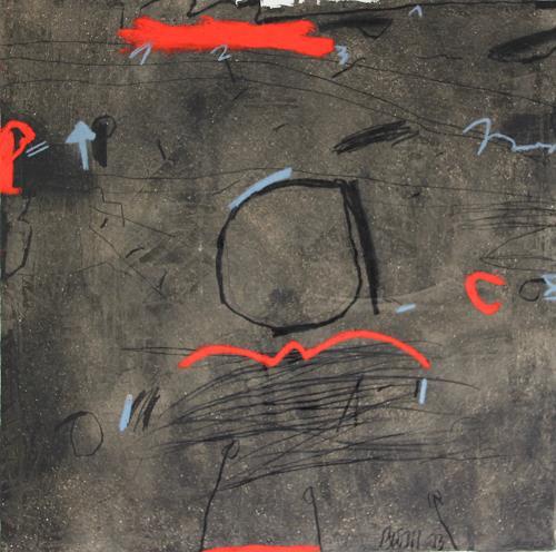 Rolf Blösch, O.T., Situationen, Abstraktes, Informel, Abstrakter Expressionismus