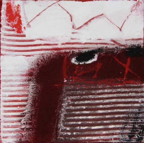 Rolf Blösch, o.T., Abstraktes, Landschaft: Winter, Informel