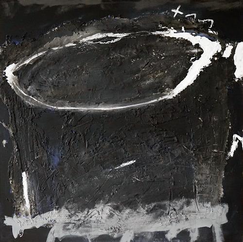 Rolf Blösch, im Kreis bewegende Gedanken, Abstraktes, Poesie, Gegenwartskunst, Abstrakter Expressionismus