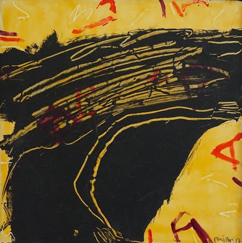 Rolf Blösch, Durchzug, Fantasie, Abstraktes, Informel, Abstrakter Expressionismus